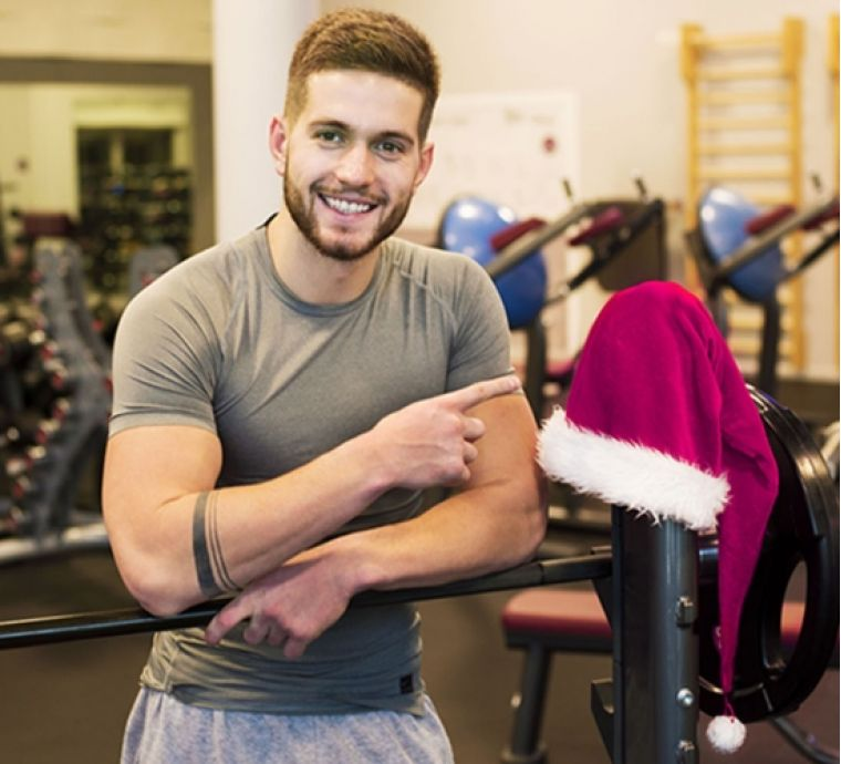 SLIM SANTA AGAIN IN FALCON CLUB FITNESS